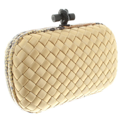 Bottega Veneta clutch with reptile leather