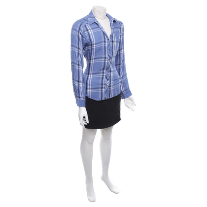 Joie Blouse with plaid pattern