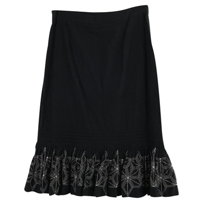 Ted Baker Black skirt with embroidery