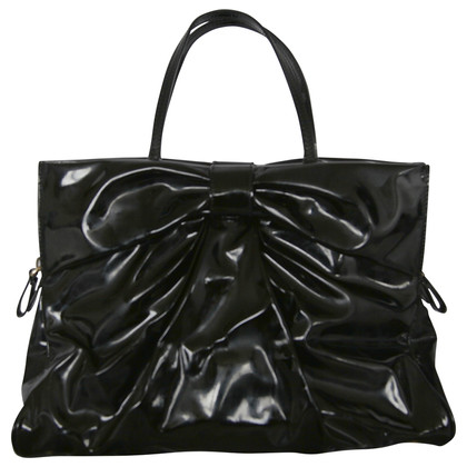Valentino Black Shiny Bow bag