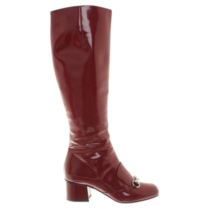 Gucci Boots gemaakt van rode lakleer