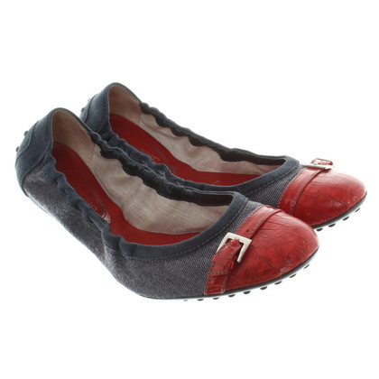 Tod's Ballerinas with material mix