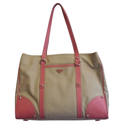 Prada Canvas and leather bag