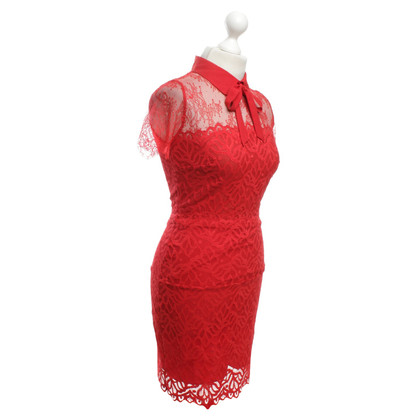 Sandro Lace dress in red