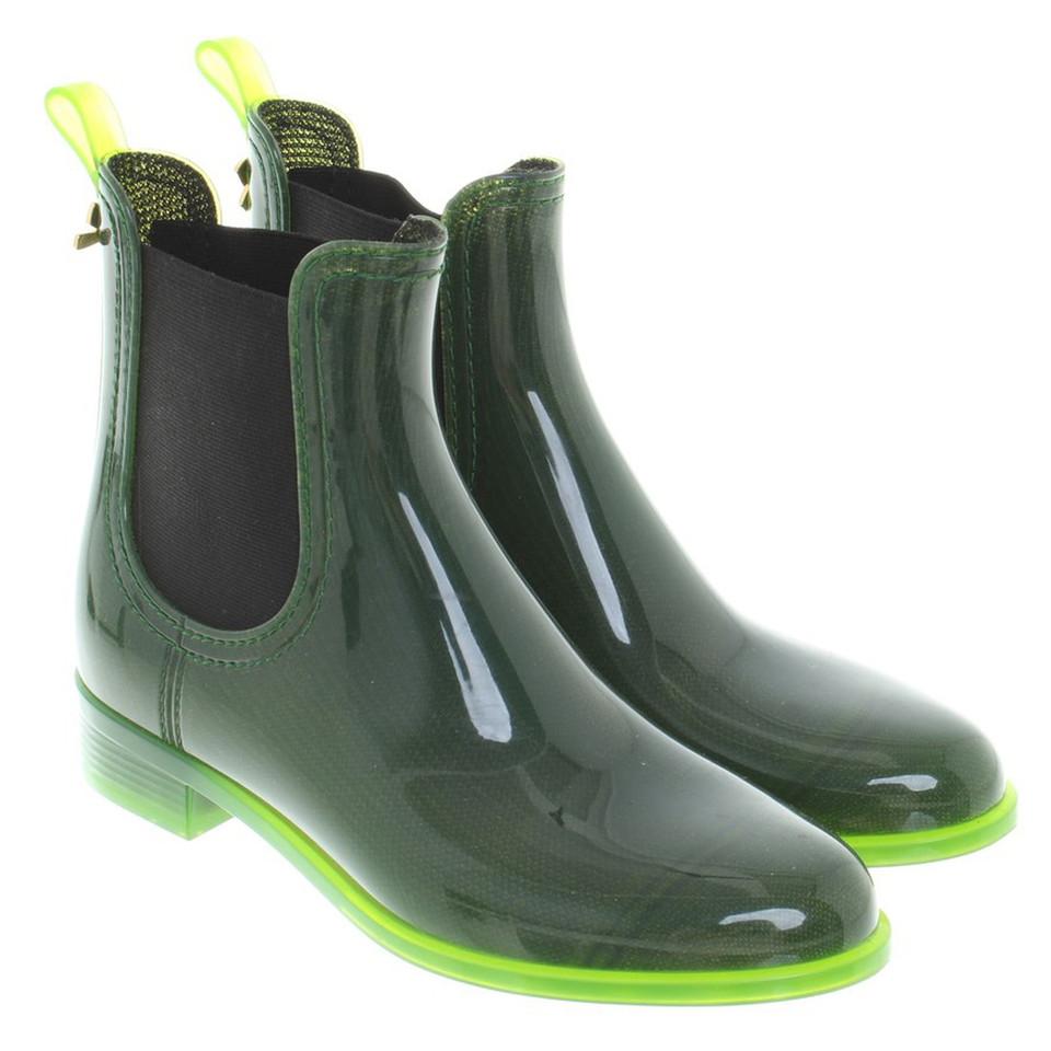 Rubberen Schoudertassen : Dorothee schumacher rubberen laarzen in het groen koop