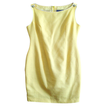 Gianni Versace Yellow piqué dress
