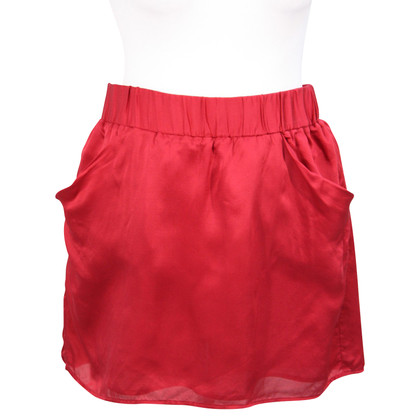Michael Kors Silk skirt in red