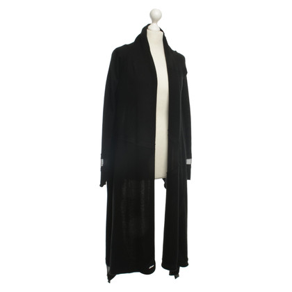 Donna Karan Cashmere Cardigan with silk details