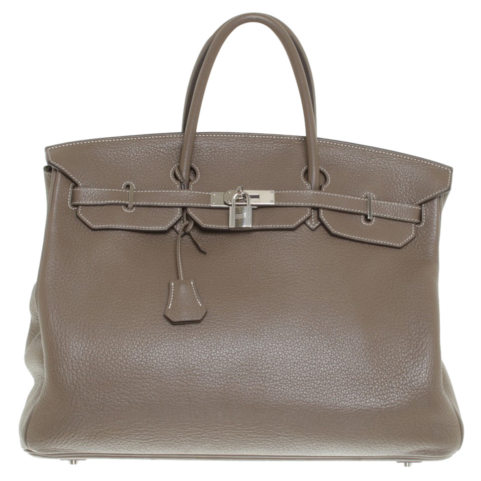 herm s birkin bag 40 in taupe buy second hand herm s birkin bag 40 in taupe for 12. Black Bedroom Furniture Sets. Home Design Ideas