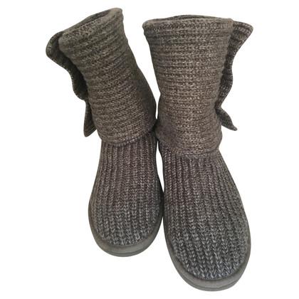 UGG Australia Bottes tricotées en gris