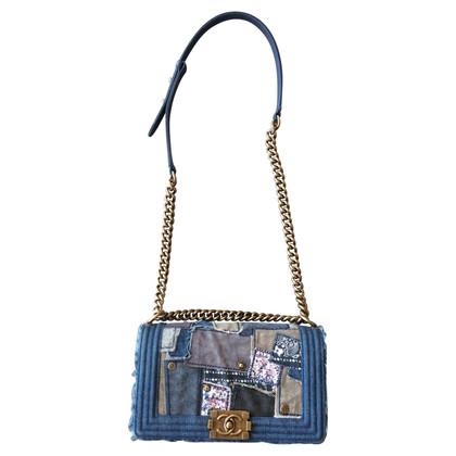 """Chanel """"Boy Bag"""" da patchwork di denim"""
