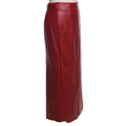 Pauw Leather skirt in red