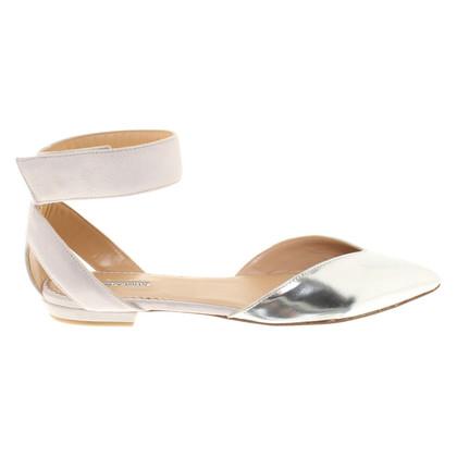 Armani Ballerinas in silver / beige