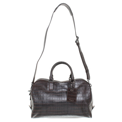 Michael Kors Travel bag with crocodile leather embossing
