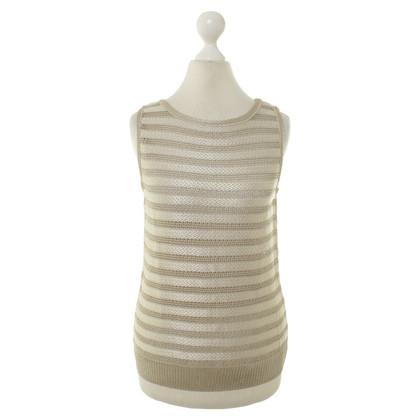 Other Designer St. John - knitted top in beige