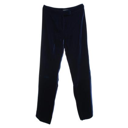 Gucci Fluwelen broek in blauw