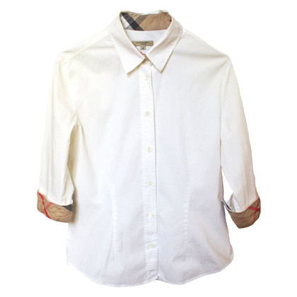Burberry White cotton blouse