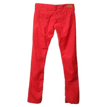Isabel Marant Fijne corduroy broek in rood