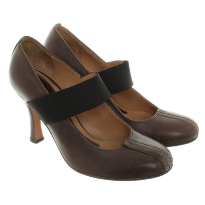 Marni Leather pumps in dark brown