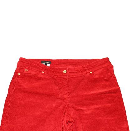 Escada Pantaloni di velluto a coste rosso