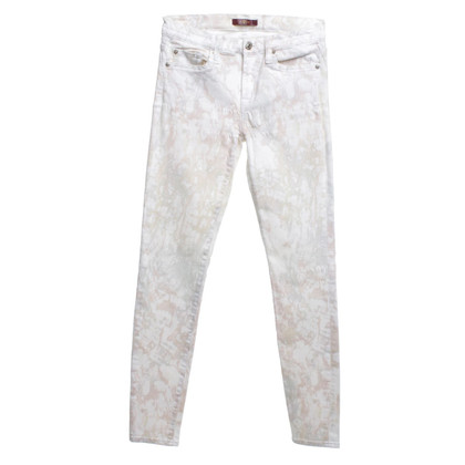 7 For All Mankind Jeans with batik pattern