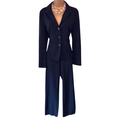 Strenesse Blue Black Tailored Trouser Suit