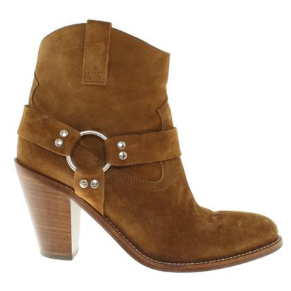 Saint Laurent Cowboy boots in ocher
