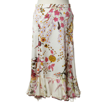 Just Cavalli Patterned silk skirt