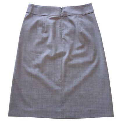 Tory Burch Logo buttons gray skirt