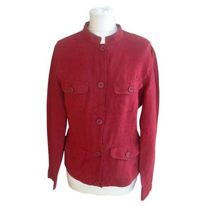 Max Mara Blazer di lino in rosso