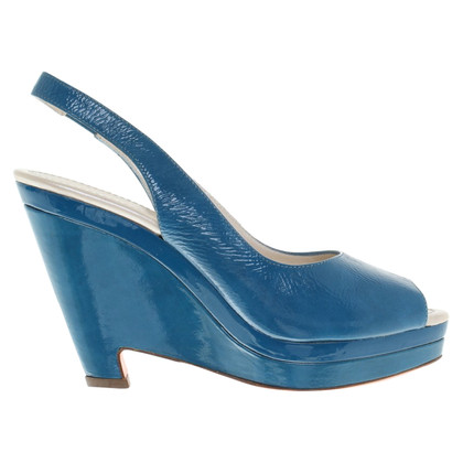 Jil Sander Wedges of patent leather