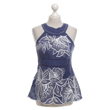 Karen Millen Top in Blauw / Wit