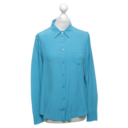 Equipment Silk blouse in turquoise blue