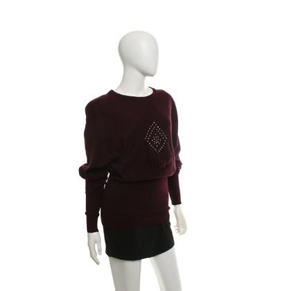 Sonia Rykiel Knit top in dark red