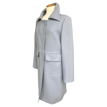 Piu & Piu Wool coat in silverblue