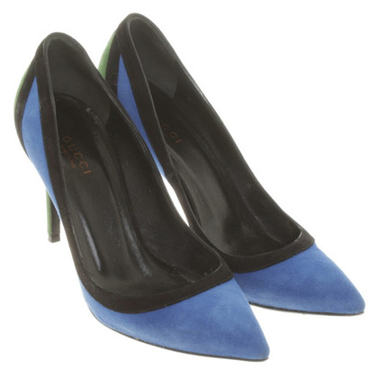 Gucci pumps in Blue / zwart / Groen