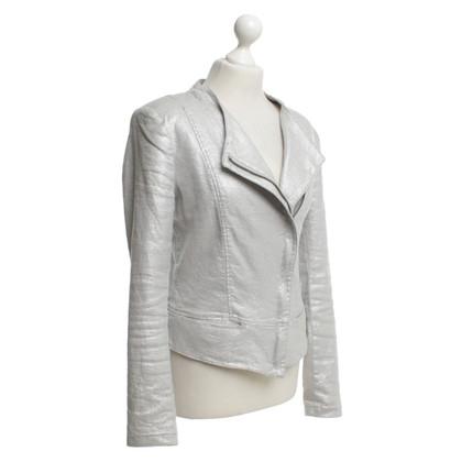 Drykorn biker jacket in argento