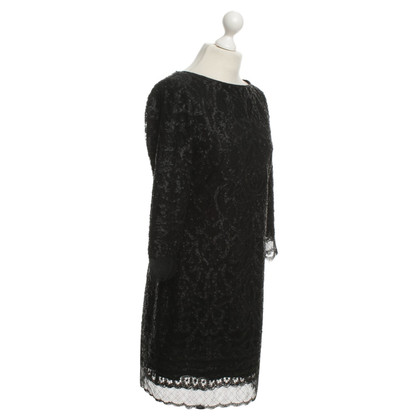 Elie Tahari Sequin Dress in zwart