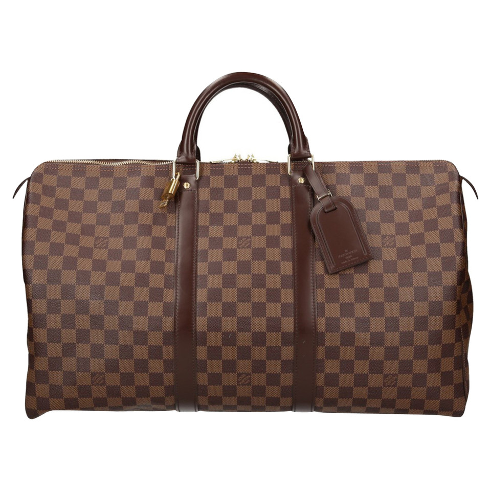 louis vuitton keepall 50 damier ebene canvas buy second hand louis vuitton keepall 50. Black Bedroom Furniture Sets. Home Design Ideas