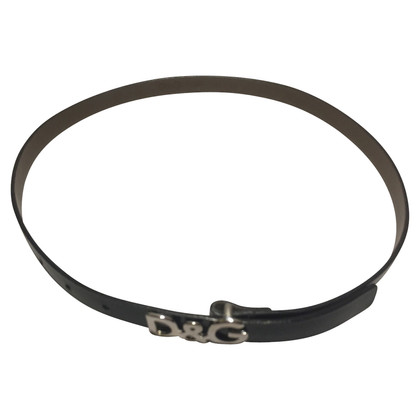 Dolce & Gabbana Leather strap with logo buckle
