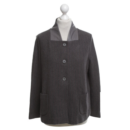 Fabiana Filippi Knitted blazer with leather collar