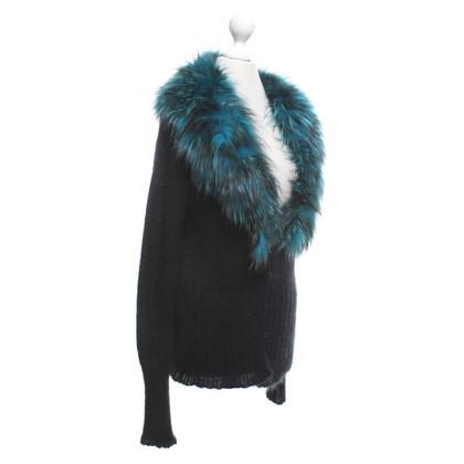Roberto Cavalli Cardigan in black / turquoise