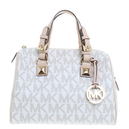 "Michael Kors ""Grayson bowling bag"" in cream"
