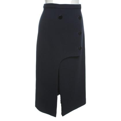 Céline Wrap skirt in dark blue