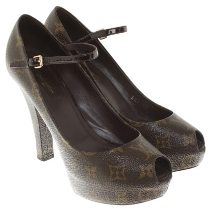Louis Vuitton Peeptoes van Monogram Canvas