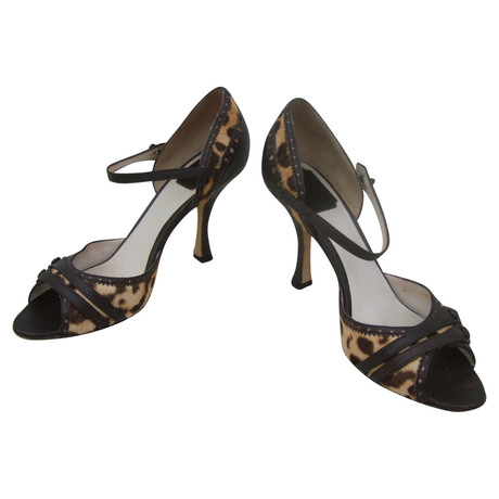 Dior Peeptoes Muster Christian Christian Dior Christian Bunt Peeptoes Dior Muster Bunt Peeptoes Bunt EqBZHCC