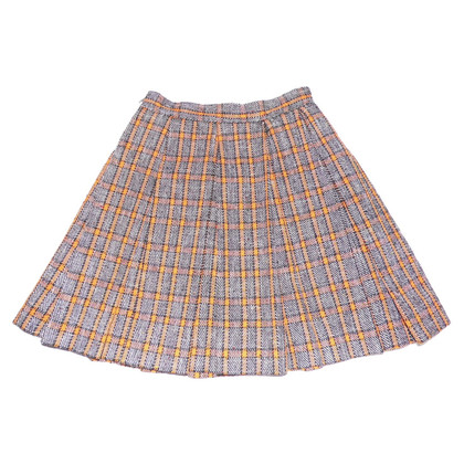 Marni Plaid pleated skirt