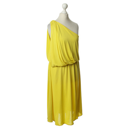 Lanvin One-shoulder dress in yellow