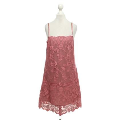 Twin-Set Simona Barbieri Lace dress in blush pink