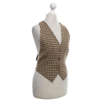 Armani Vest met houndstoothpatroon